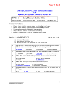 –Set B Paper 3 NATIONAL CERTIFICATION EXAMINATION 2005