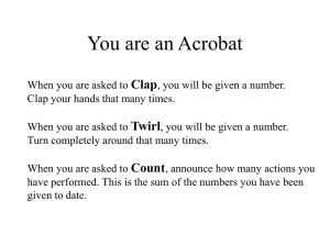 You are an Acrobat Clap Twirl