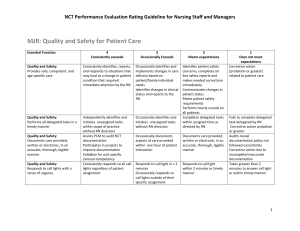 MJR: Quality and Safety for Patient Care