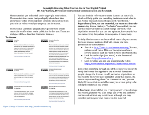 Copyright: Knowing What You Can Use in Your Digital Project