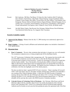School of Medicine Executive Committee Meeting Minutes September 16, 2008 ATTACHMENT 1