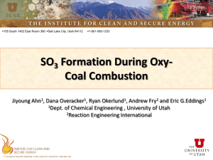 SO Formation During Oxy- Coal Combustion 3