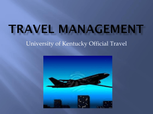University of Kentucky Official Travel