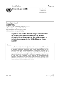 A General Assembly United Nations Human Rights Council