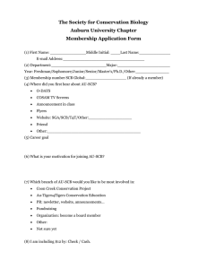 The Society for Conservation Biology Auburn University Chapter Membership Application Form