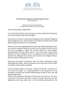 UN Workshop of Regional and Sub-Regional Courts