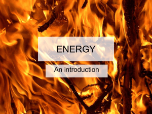 ENERGY An introduction