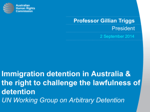 Immigration detention in Australia & detention UN Working Group on Arbitrary Detention