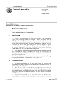 A General Assembly  Post-sessional document