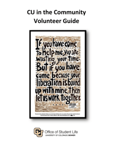 CU in the Community Volunteer Guide