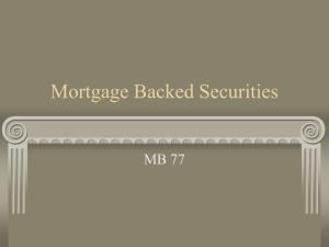 Mortgage Backed Securities MB 77