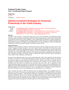 Optimal Investment Strategies for Enhanced Productivity in the Textile Industry