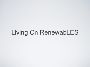 Living On RenewabLES