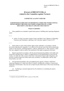 [Extract of HRI/GEN/2/Rev.6 related to the Committee against Torture]