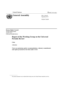 A General Assembly  Report of the Working Group on the Universal