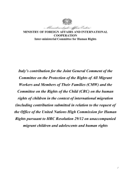 Italy's contribution for the Joint General Comment of the