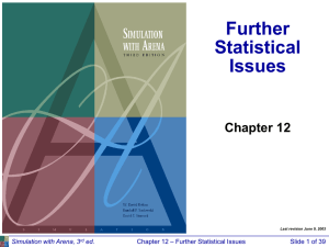 Further Statistical Issues Chapter 12