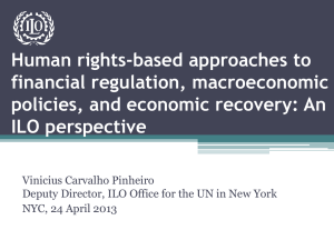 Human rights-based approaches to financial regulation, macroeconomic policies, and economic recovery: An