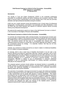 Draft General Comment on Article 9 of the Convention -... STEP response to consultation 21 February 2014