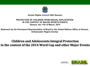 Human Rights Council 25th Session PROTECTION OF CHILDREN FROM SEXUAL EXPLOITATION
