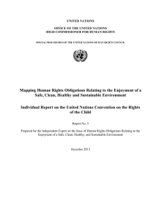 Mapping Human Rights Obligations Relating to the Enjoyment of a