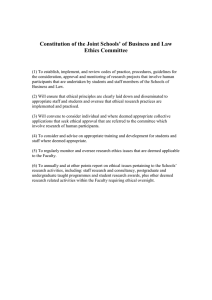 Constitution of the Joint Schools' of Business and Law Ethics Committee
