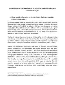 OHCHR STUDY ON CHILDREN'S RIGHT TO HEALTH-HUMAN RIGHTS COUNCIL RESOLUTION 19/37