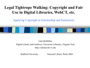 Legal Tightrope Walking: Copyright and Fair