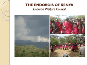 THE ENDOROIS OF KENYA Endorois Welfare Council