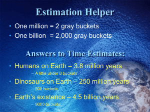 Estimation Helper Answers to Time Estimates:
