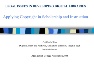 Applying Copyright in Scholarship and Instruction
