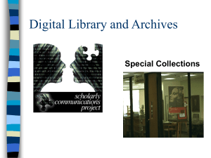 Digital Library and Archives Special Collections