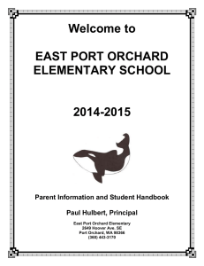 Welcome to  EAST PORT ORCHARD ELEMENTARY SCHOOL