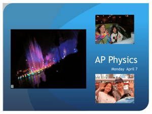 AP Physics Monday  April 7