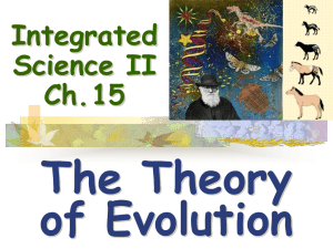 The Theory of Evolution Integrated Science II