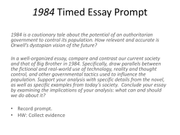 analysis essay doc 1984