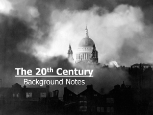The 20 Century Background Notes th