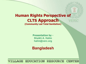 Approach Human Rights Perspective of CLTS Bangladesh
