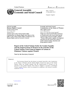 A E General Assembly Economic and Social Council