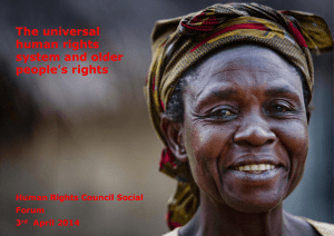 The universal human rights system and older people's rights