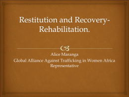 Alice Maranga Global Alliance Against Trafficking in Women Africa Representative