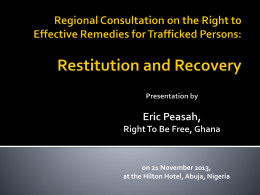 on 21 November 2013, at the Hilton Hotel, Abuja, Nigeria