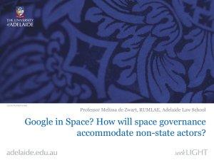 Google in Space? How will space governance accommodate non-state actors?
