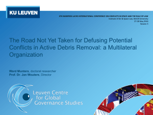 The Road Not Yet Taken for Defusing Potential Organization