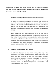 Comments  of  the  NHRC,  India ... the  Right  to  Food  of ...