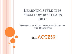 L EARNING STYLE TIPS FROM HOW DO I LEARN BEST