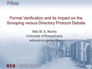 Formal Verification and its Impact on the Milo M. K. Martin