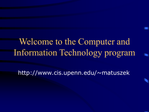Welcome to the Computer and Information Technology program