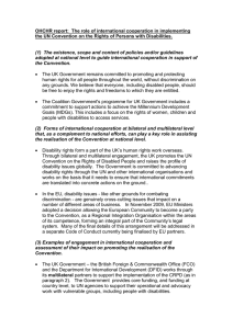 OHCHR report:  The role of international cooperation in implementing