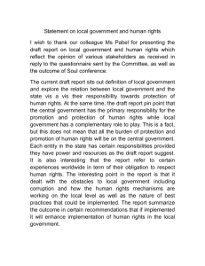 Statement on local government and human rights
